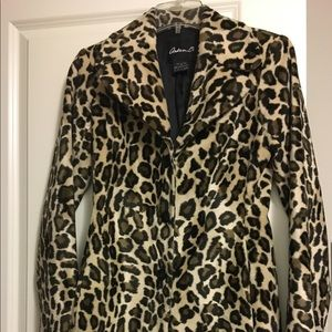 🎁Gorgeous ARDEN B Leopard Print Long Coat- Small